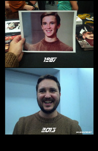 Wesley Crusher (Wil Wheaton) Sweater - Then and Now