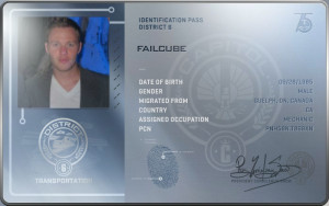 Hunger Games Catching Fire District Indentification Pass