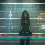 Guardians of the Galaxy Official Photo Gamora Prison Lineup