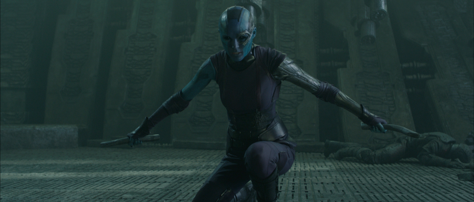 Guardians of the Galaxy Official Photo Karen Gillan Nebula